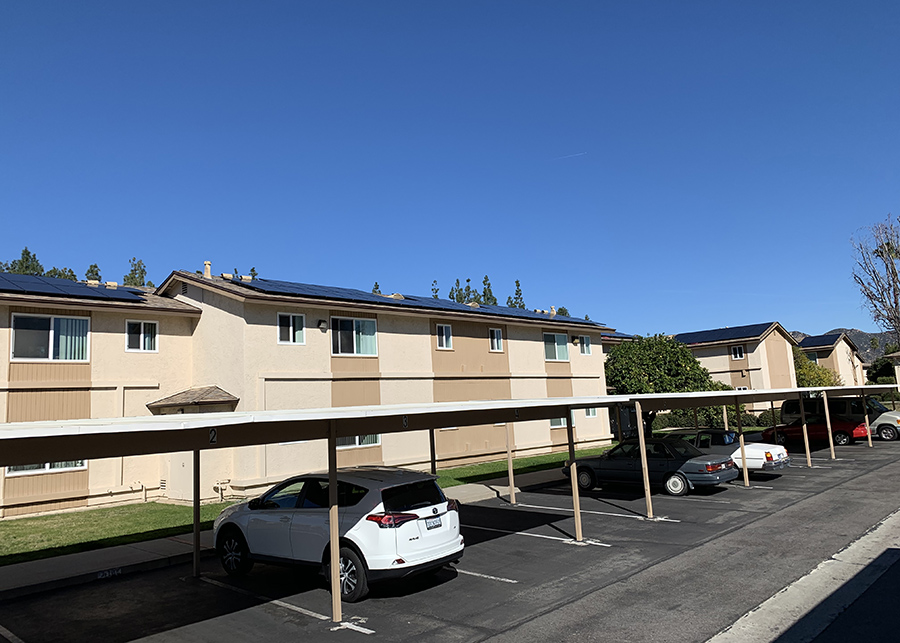 the renovated exteriors at the Escondido apartments