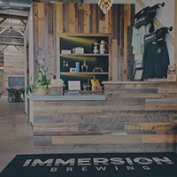entryway at Immersion Brewery