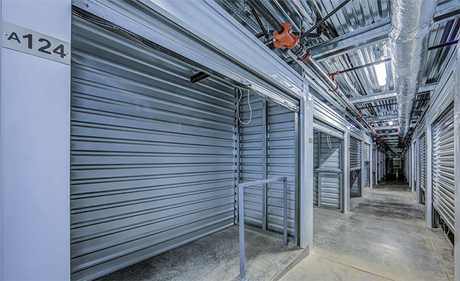 a photograph of the stainless steel interior of one of Exit 24 Storage's aluminum buildings
