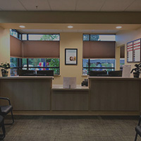 The large reception area at Mosaic Medical